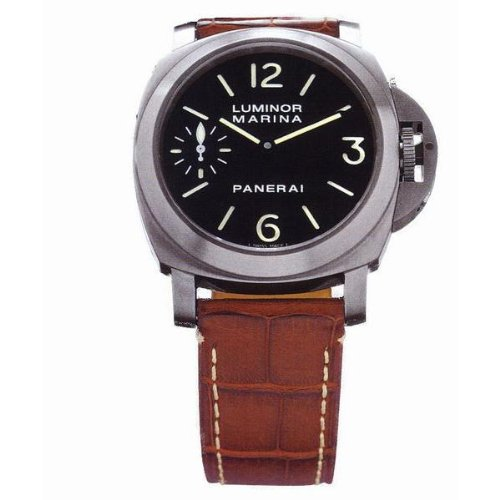 Panerai Men's PAM00177 Luminor Marina Black Dial Watch