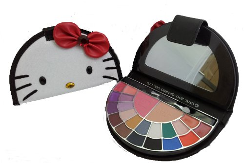Hello Kitty Filled Make Up Glitter Case