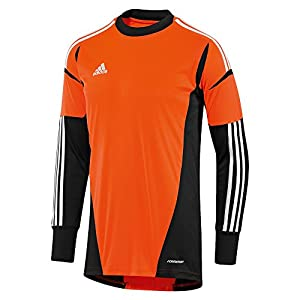 Adidas cono 12 goalkeeper jersey warning black white age 8
