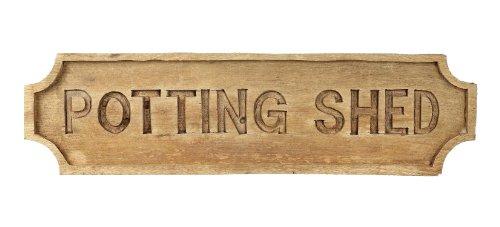 Large Wooden Carved Sign - Potting Shed H150 x W570mm