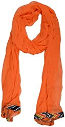 Nilibar Women's Chiffon Dupatta (Orange)