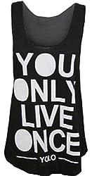 Womens Sleeveless Yolo Vest Top (M8)