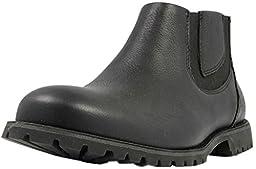 Bogs Men\'s Johnny Waterproof Chelsea Boot, Black, 7.5 M US