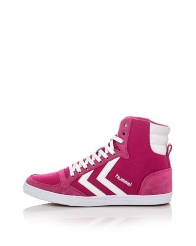 Hummel Sneaker Alta Slimmer Stadil High [Bianco/Rosso/Blu]