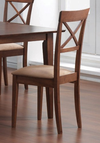 Dining Chair with Cross Back Design Set of 2 in Walnut  : 41gEQZ9U4uL from sites.google.com size 349 x 500 jpeg 28kB