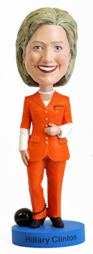 Hillary Clinton Orange Pantsuit Bobblehead