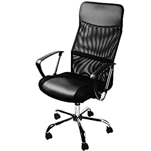 Office Swivel Desk Chair Executive High Back Pc Computer Office Chairs Black