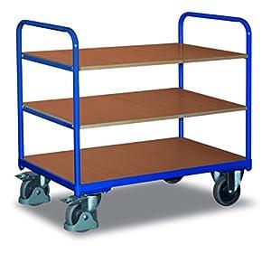 Cordes Etagenwagen, 3 Ladeflächen, Ladefläche LxB 850x500 mm, Außenmaße LxBxH 910x500x986 mm, Traglast 250 kg