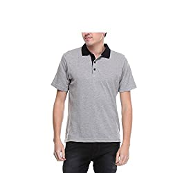 Opg Men's Cotton Polo (O211T031_Grey_Large)