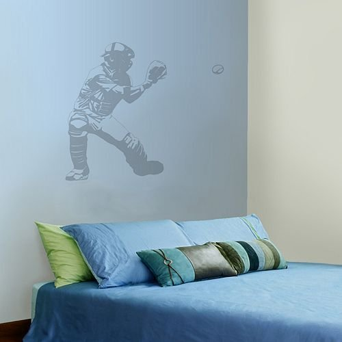 Baseball Catcher Wall Decal - 1