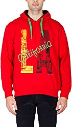 Priknit Men's Cotton Sweatshirt (IH-SS2-40 RED C/F, Yellow C/F, 40)