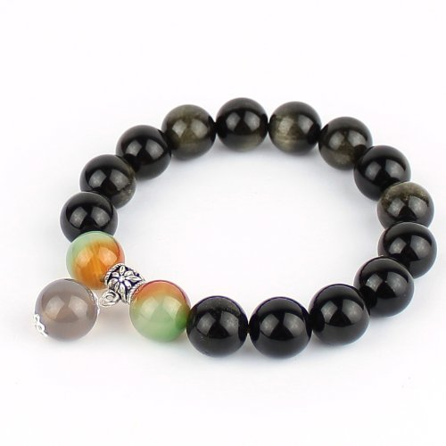 O-stone Wishing Bead Bracelet Series Golden Obsidian
