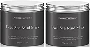 Beauty Dead Sea Mud Mask for Facial Treatment 500g / 16 fl.oz (2 Jars Better Value)