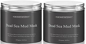 Beauty Dead Sea Mud Mask for Facial Treatment 500g / 16 fl.oz (2 Jars Better Value)