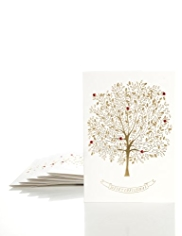 8 Gold Tree Luxury Christmas Multipack of Cards