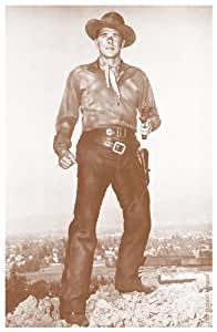 "Young Ronald Reagan Cowboy movie 11"" X 14"" Sepia Poster"