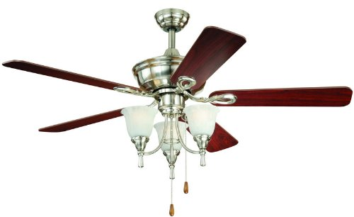 AireRyder F0009 Nova 52-Inch Ceiling Fan, Satin Nickel