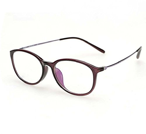 Girl TR90 glasses frame plain glass spectacles frame with round glasses frame color Ms. (Bordeaux)