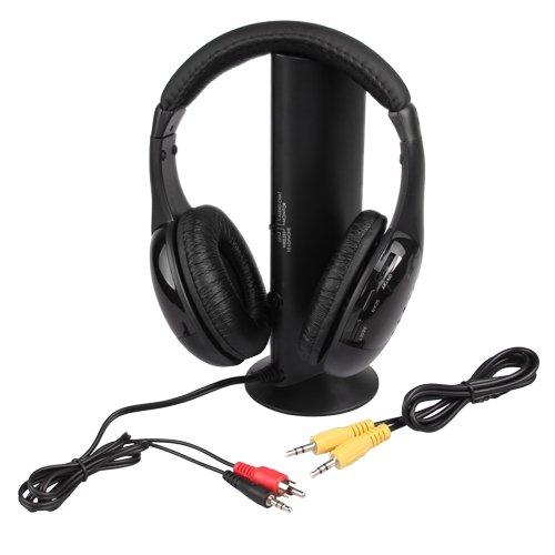 5 in 1 Wireless Cordless Headphone Earphone Headset for Laptop MP3 MP4 PC TV