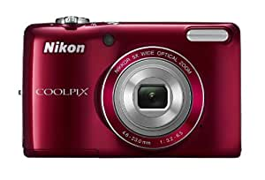 Nikon COOLPIX L26 16.1 MP Digital Camera with 5x Zoom NIKKOR Glass Lens and 3-inch LCD (Red) (OLD MODEL)