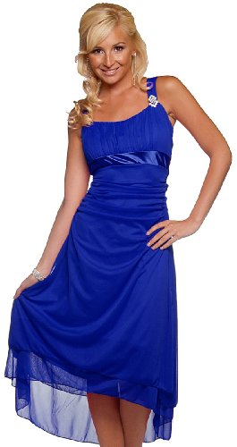 Womens One Shoulder Sleeveless Formal Bridesmaids Evening Party Dress