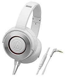 Audio-Technica Solid Bass ATH-WS550iS-WH Headphones with Mic (White)
