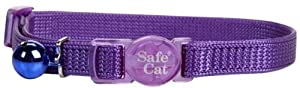 Coastal Pet Products CCP7001PUR Nylon Safe Cat Adjustable Breakaway Collar with Bells, Purple