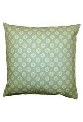 Kissenhülle Textildruck ''Blumen'' grün - 40*40 cm von Raebel - Gartenmöbel von Du und Dein Garten