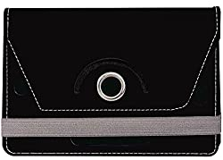 Jkobi 360* Rotating Front Back Tablet Book Flip Case Cover For Vizio VZ-706 (Universal) -Black