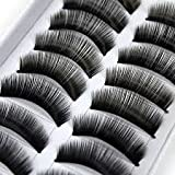 10 paire faux cils volumineux naturel cil noir maquillage yeux eyelashes