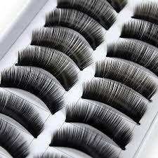LGG - 10 Paar falsche künstliche Wimpern Eyelashes für Party / Alltag hochwertig Haar von Boolavard® TM