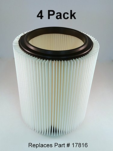 Craftsman & Ridgid Replacement Filter 4 pack by Kopach (Shop Vac Filter Craftsman compare prices)