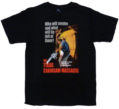 Texas Chainsaw Massacre Bizarre and Brutal Crimes Mens T-shirt L