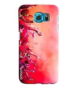 Omnam People Celebrating Indian Festival Holi Printed Designer Back Case Samsung Galaxy S6 EDGE Plus