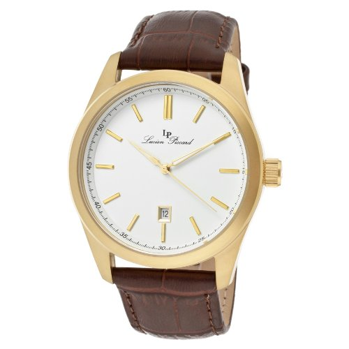 Lucien Piccard Men's 11568-YG-02 Eiger White Dial Brown Leather Watch