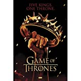 (24x36) Game of Thrones Crown Five Kings One Throne TV Poster Print