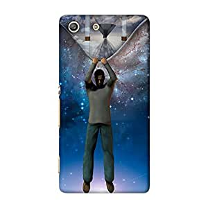 ArtzFolio The Fabric Of Time Revealed : Sony Xperia M5 Matte Polycarbonate ORIGINAL BRANDED Mobile Cell Phone Protective BACK CASE COVER Protector : BEST DESIGNER Hard Shockproof Scratch-Proof Accessories