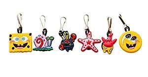 6 pcs Spongebob and Friends Zipper Pull Charms for Jacket Backpack Bag Pendant