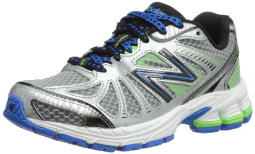 New Balance Kj880 Neutral Y Running Shoe (Little Kid/Big Kid),Silver/Blue,3 W Us Little Kid