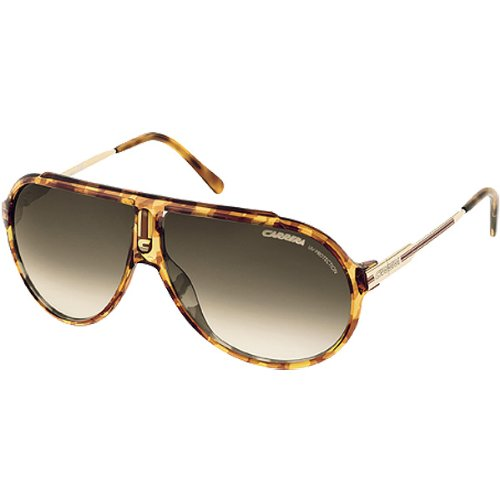 Carrera Endurance/L/S Adult Casual Wear Sunglasses/Eyewear – Color: Blonde Havana Striped Gold/Brown Gray Gradient