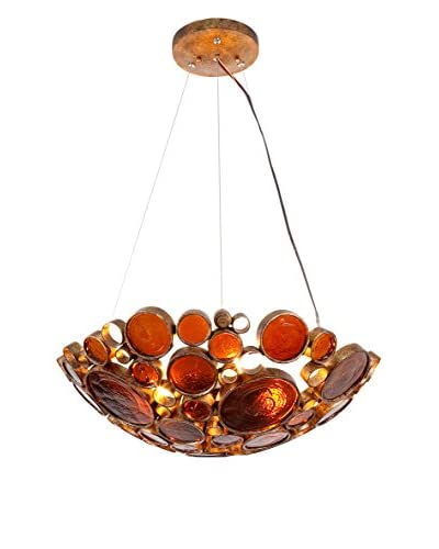 Varaluz Fascination 3-Light Pendant, Amber Bottle Glass