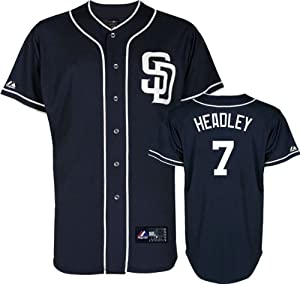 Majestic Athletic San Diego Padres Chase Headley Replica Alternate Navy Jersey by Majestic