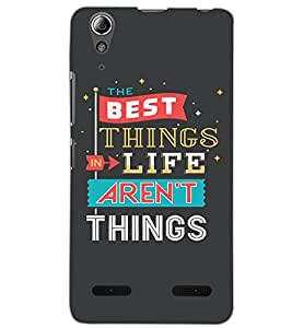 LENOVO A6000 PLUS THE BEST THING Back Cover by PRINTSWAG