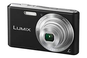 Panasonic Lumix DMC-F5EB-K Compact Camera - Black (14.1MP, 5x Optical Zoom, Super Slim Design, 28mm Wide Angle Lens, HD Video Recording) 2.7 inch LCD