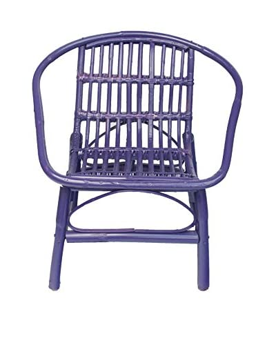 Mili Designs Indoor/Outdoor Rattan Chairs, Violet