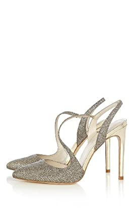 Crystal metallic asymmetric heel