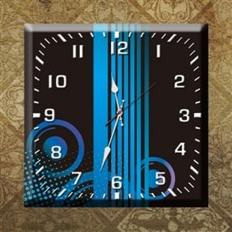Square Arabic Numbers Quartz Wall Clock B017FRIRTQ
