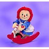 "Raggedy Ann Musical Rocker Doll / Rocking Horse by Russ Berrie - plays ""Rock-a-bye Baby"""