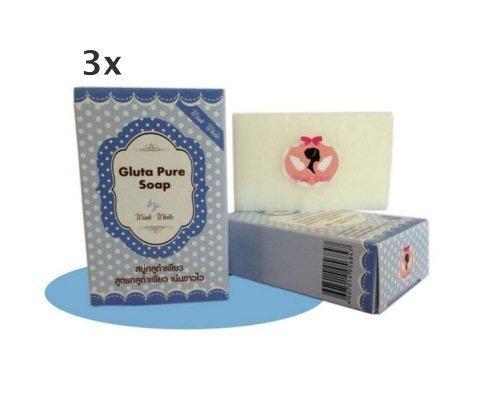 Wink White Soap 3x70G.Gluta Pure Soap wink white Whitening Soap Lightening Skin Face Lightener