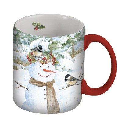 Lang Chickadee Snowman Mug By Jane Shasky, 14-Ounce, Multicolor